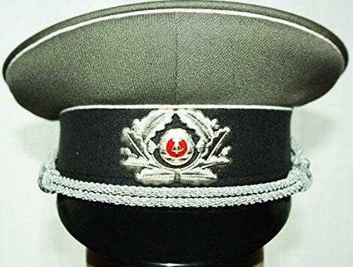 NVA Schirmmütze Offizier Gr.56 Mütze Uniform Fasching Karneval Halloween