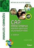 Image de Annales corrigées CAP Petite Enfance : Matières générales et professionnelles