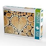Herz Holzmaserung 1000 Teile Puzzle quer