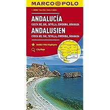 MARCO POLO Karte Andalusien, Costa del Sol, Sevilla, Cordoba, Granada 1:200 000 (MARCO POLO Karten 1:200.000)
