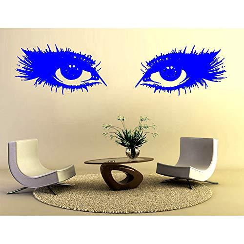 Salone di bellezza Rimuovi adesivi murali in vinile Occhi cosmetici Ragazza Soggiorno Camera da letto Decalcomania Decorazione della casa Poster d'arte H 40 * 165cm