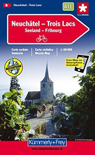 Neuchâtel/Trois Lacs 8 k&f (r) cycle map GPS por Hallwag Kummerly & Frey AG