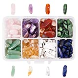 NBEADS - 1 Caja de Cuentas de Piedras Preciosas Naturales de Colores Mezclados con Cristales en Forma Irregular, para Hacer Joyas