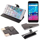 K-S-Trade Schutz Hülle für Archos Core 55P Schutzhülle Flip Cover Handy Wallet Case Slim Handyhülle bookstyle schwarz