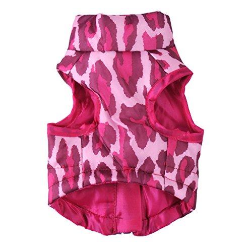 Hunde Shirt Jacket Vest Outwear Mantel - Pink, ()