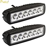 #3: Pivalo 6 LED 18W CREE Fog Light/Work Light Bar Spot Beam Off Road Driving Lamp Universal (Pack of 2)