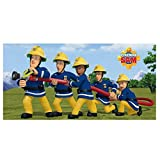 Unbekannt Feuerwehrmann Sam Duschtuch 70 x 140 cm, 100% Baumwolle für Unbekannt Feuerwehrmann Sam Duschtuch 70 x 140 cm, 100% Baumwolle