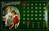 Nostalgische Welten Andreas Schmidt Pilsner Urquell Calendario de Cerveza nostálgico Cartucho, Curvada, Fuerte en Relieve 3D Metal Tin Sign 7,87'x 11.81Inches