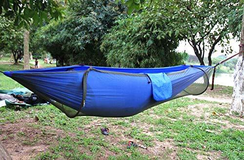 pomelogreem Amaca da Campeggio,Amaca Altalena Anti-zanzara in Tessuto Paracadute, Tenda Aerea da Campeggio Esterna da Campeggio Blu @,da Viaggio| capacità