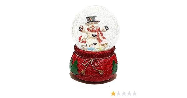 XXL Mechanische Spieluhr Schneekugel Rentier Schüttelkugel Weihnachtsmann Glas