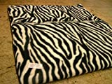 KosiPet® Luxury FLEECE Pet Dog Cat Bed Mat With Fibre Pad (LARGE, ZEBRA)