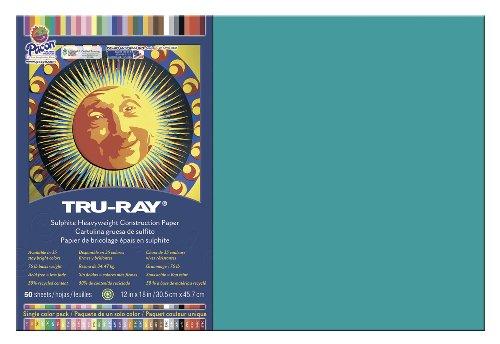 Pacon Gesellschaft PAC103039 Tru-Ray Bau Papier 12 X 18 Turquoise