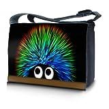 """Luxburg® design sacoche sac de messager à bandoulière pour ordinateur portable Notebook 17,3 pouces, motif: Hérisson """"undercover"""""""