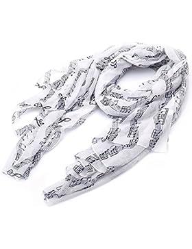 lureme®Música la moda de impresión de billetes bufanda larga ligera (01003407)
