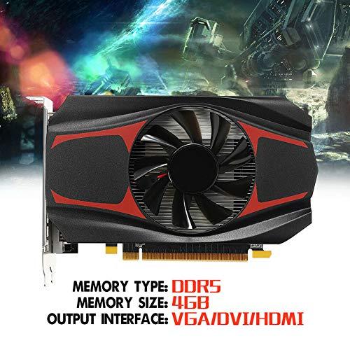 FADDR Für HD7670-Spiel grafikkarte, 4 GB DDR5-Speicher, 128-Bit-Grafikkarte, Silent PCI Express-Kühlung für Desktop-PCs(wie Gezeigt) (Pci-express Ddr5)