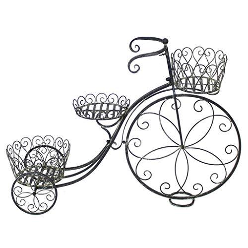 QI-shanping Fahrrad Blumenständer Retro Schmiedeeisen Blumenständer Float Rack Schaufenster Dekoration Ausstellungsstand