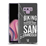 Head Case Designs Vélo À San Francisco Rêve du Voyageur Étui Coque en Gel Molle pour Samsung Galaxy Note9 / Note 9