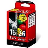 Lexmark Combo Pack 16 + 26 - Print cartridge - 1 x black, colour (cyan, magenta, yellow) - promo