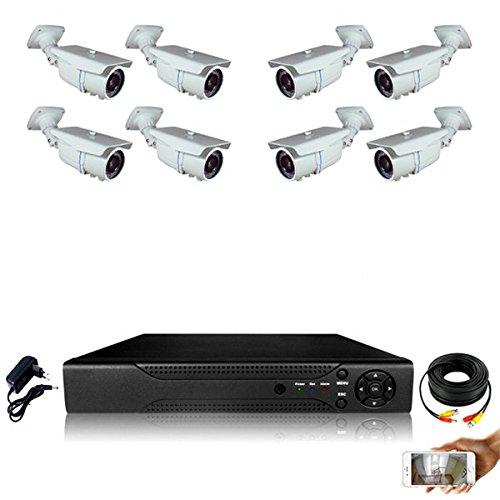 Kit-videovigilancia-8-Cmaras-tubos-Full-AHD-Sony-960p-13-mp--2000-GB-incluye-5-cable-de-40-M-3-x-20-m-pantalla-19