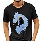 Princess Mononoke Wolf T-shirt Medium