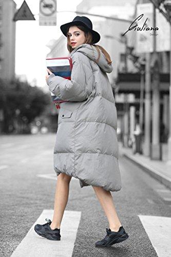 YOU.U Damen Allwetter Wasser Resistent Lange Winterjacke Grau