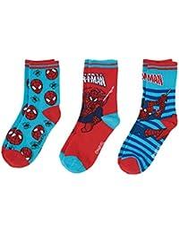 Spiderman Chicos Calcetines (lote de 3) - Azul