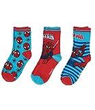 Spiderman Jungen 3 er Pack Socken - blau - 23-26