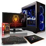 Fierce ZOMBIE RGB Gaming PC Bundeln - Schnell 4 x 4.0GHz Quad-Core AMD Athlon X4 950, Aftermarket Tower Kühler, 240GB Solid State Drive, 1TB Festplatte, 16GB von 2400MHz DDR4 RAM / Speicher, NVIDIA GeForce GTX 1050 2GB, ASUS B350M-K Hauptplatine, Cooler Master MasterBox Lite 5 RGB Computergehäuse, HDMI, USB3, Wi - Fi, Perfekt für Wettkampfspiele, Windows nicht Enthalten, Tastatur (VK/QWERTY), Maus, 21.5-Zoll-Monitor, Headset, 3 Jahre Garantie 886065