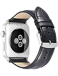 Leather Compatible/Replacement for Apple Watch Band 38mm 42mm 40mm 44mm iStrap Genuine Watch Strap Replacement Wrist Bracelet Sport Edition Series 4 3 2 1