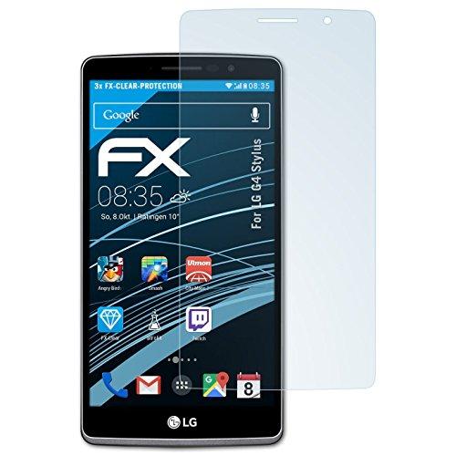 atFolix Schutzfolie kompatibel mit LG G4 Stylus Folie, ultraklare FX Bildschirmschutzfolie (3X)