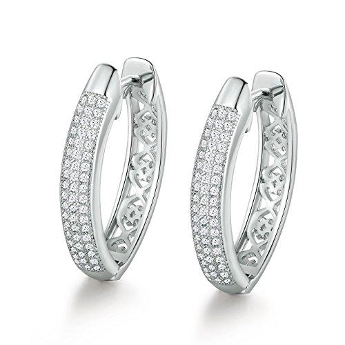 Gulicx, orecchini ad anello da donna, alla moda, per lobi forati, con zirconi cubici incastonati, orecchini in tonalità oro, gioielli di nozze