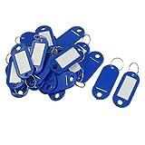 Sonline 20 Pcs Clave ID Label Etiquetas Anillo de division llavero Azul