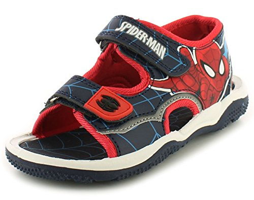 sandali-nuovi-per-ragazzi-per-bambini-blu-rosso-spiderman-con-chiusura-a-strappo-numeri-uk-7-1-multi