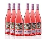 Calderona Vino Rosado Tinto Fino Garnacha Cigales - 75 cl - 6 botellas