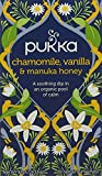 Pukka Chamomile, Vanilla & Manuka Herbal Tea Bags - Organic & Naturally Caffeine Free (Pack of 4)