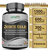 Naturyz Jointe Gold with 1500mg Glucosamine, 600mg Chondroitin, 300mg Methyl Sulfonyl Methane, Boswellia