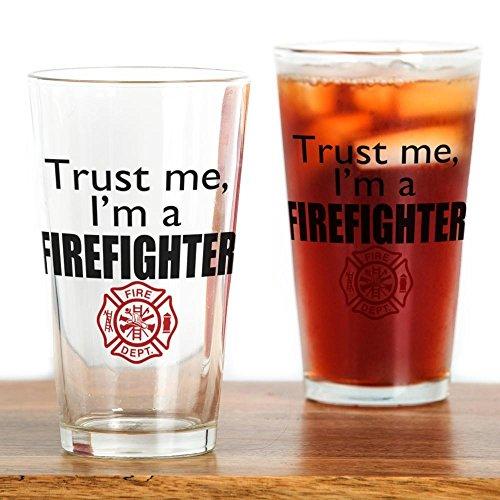 CafePress–Trust Me Im eine Feuerwehrmann–Pint-Glas, 16oz Trinkglas farblos