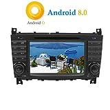 XISEDO Android 8.0 Autoradio 7' Voiture Radio à Écran Tactile 2 Din 8-Core RAM 4G ROM 32G Car Radio Système de Navigation GPS avec Lecteur de DVD pour Mercedes-Benz C Class W203/ Benz CLK W209