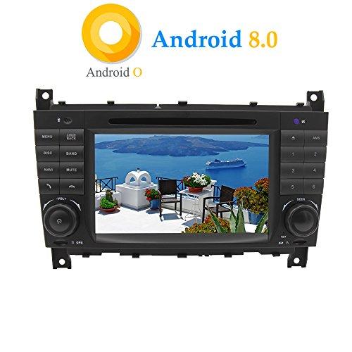 XISEDO Android 8.0 Autoradio 2 DIN 7' Radio de Coche 8-Core RAM 4G ROM 32G Car Radio In-Dash Estéreo Navegación con Reproductor De DVD para Mercedes-Benz C Class W203/ Benz CLK W209 (Autoradio)
