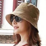 LIUXINDA-MZ Männer und Frauen universal Kappe outdoor Visor alpine Hut sun cap Paar cap beidseitigen Dell Sommer, Kappe, Braun