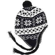 MAROK-INERIE Bonnet Péruvien Chullo ch ullu avec Pompon Mixte Homme Femme  Couleurs 740c5f2e7ad