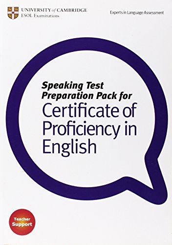 Speaking Test Preparation Pack for CPE Paperback with DVD por Cambridge ESOL