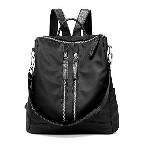 Canness-Women's backpack Frauen Rucksack Licht wasserdicht Oxford Tuch Daypack Casual Reisen Outdoor-Shopping (Farbe: Schwarz) für Männer Frauen, Arbeit Casual Womens Oxford