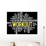 Wallmonkeys Workout Word Cloud Fitness Wand Wandbild von Abziehen und Aufkleben Graphic wm67409 24