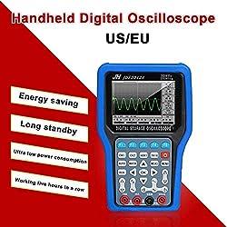 Wetour Osciloscopio de Mano USB Osciloscopio analizador lógico generador de señal