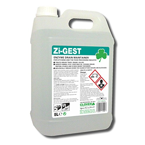 Clover 470 Zi-Gest Enzyme Drain Maintainer 5 Litre - Pack of 2
