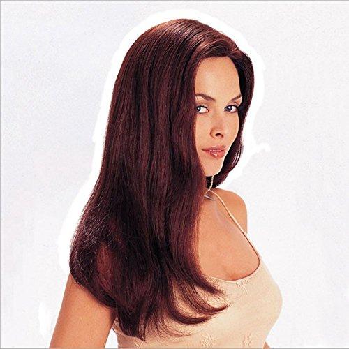 JL Perücken der Frauen Lange Lockige Haar-Mikroperücken-Perücken Cosplay Tägliche Partei-Wein-Rote Lange Haar-Lockige Haar-Erweiterungen