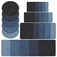 Caratteristiche: Materiale: tessuto denim. Colori: blu nostalgico, azzurro, blu, blu navy, nero. Shapes: square, rectangle, oval. Dimensione: -Grande piazza: 125mm * 125mm (5 inches * 5 inches); -Piccola piazza: 75mm * 75mm (3 inches * 3 inch...