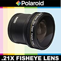 Polaroid Studio Series .21x Super Fisheye Lens With Macro Attachment, Includes Lens Pouch and Cap Covers For The Pentax X-5, K-01, K-30, K-X, K-7, K-5, K-5 II, K-R, 645D, K20D, K200D, K2000, K10D, K2000, K1000, K100D Super, K110D, *ist D, *ist DL, *ist DS, *ist DS2 Digital SLR Cameras Which Has Any Of These (18-55mm, 50-200mm) Pentax Lenses