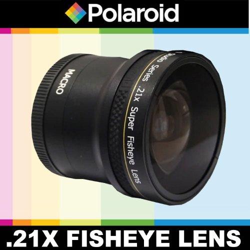 Obiettivo Super Fisheye .21x di Polaroid Studio Series con fissaggio Macro, include la custodia di obiettivo e i coperchi di obiettivo per l